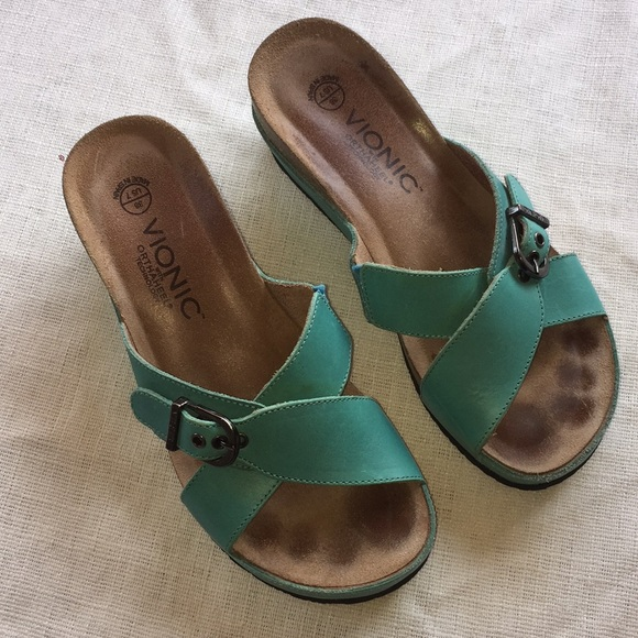 acbaeb3c9112 Vionic Shoes - VIONIC Orthaheel Teal sandals Sz 7